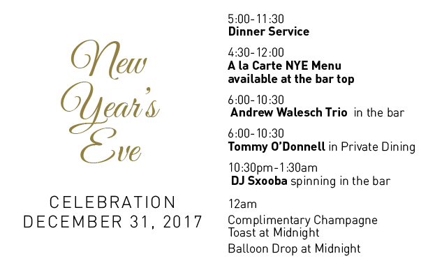 New Years Eve Celebration at Cafe Lurcat